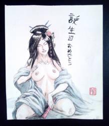 Japanese lady 2 by Armel