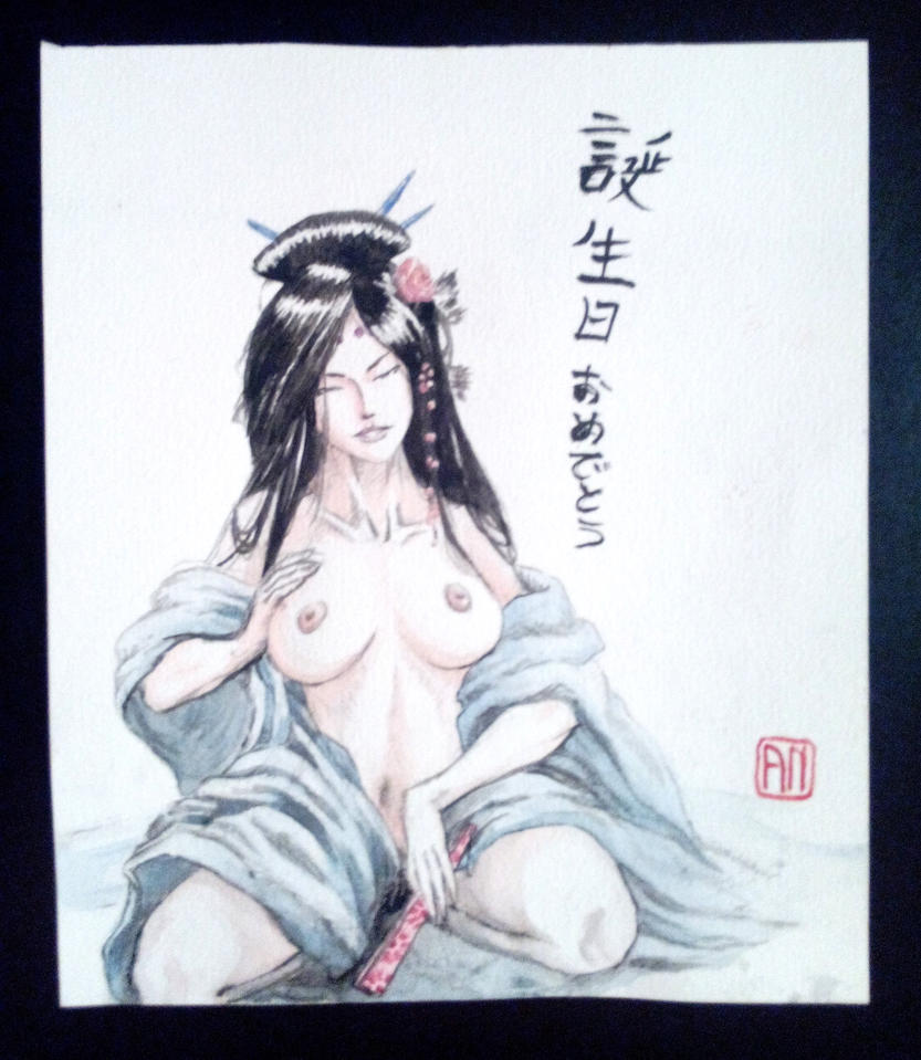 Japanese lady 2 by Armel