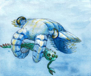 Anomalocaris and Opabinia by Armel