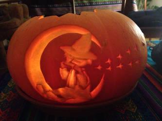 Snufkin pumpkin by Armel