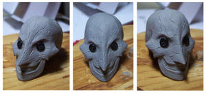 The Beldam : OOAK Doll Head Portrait by cbgorby