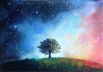Galaxy tree by goingforawalk