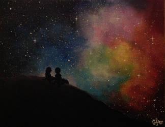Galaxy love by goingforawalk