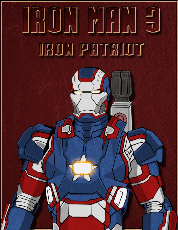 Iron Patriot Armor Iron Man 3 Iron Patriot Armor