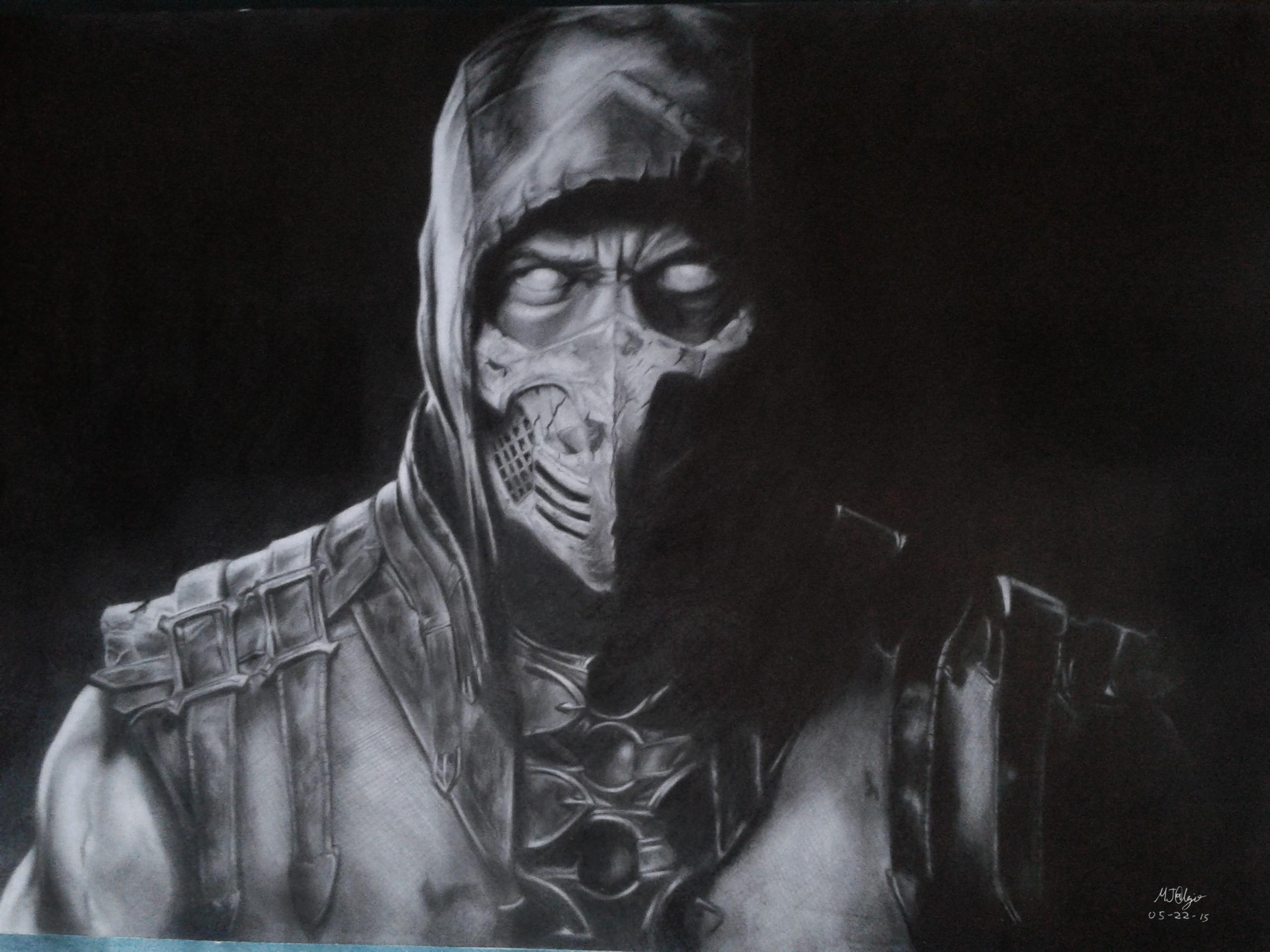 Mortal Kombat X Scorpion Drawing By Tremor209 On Deviantart