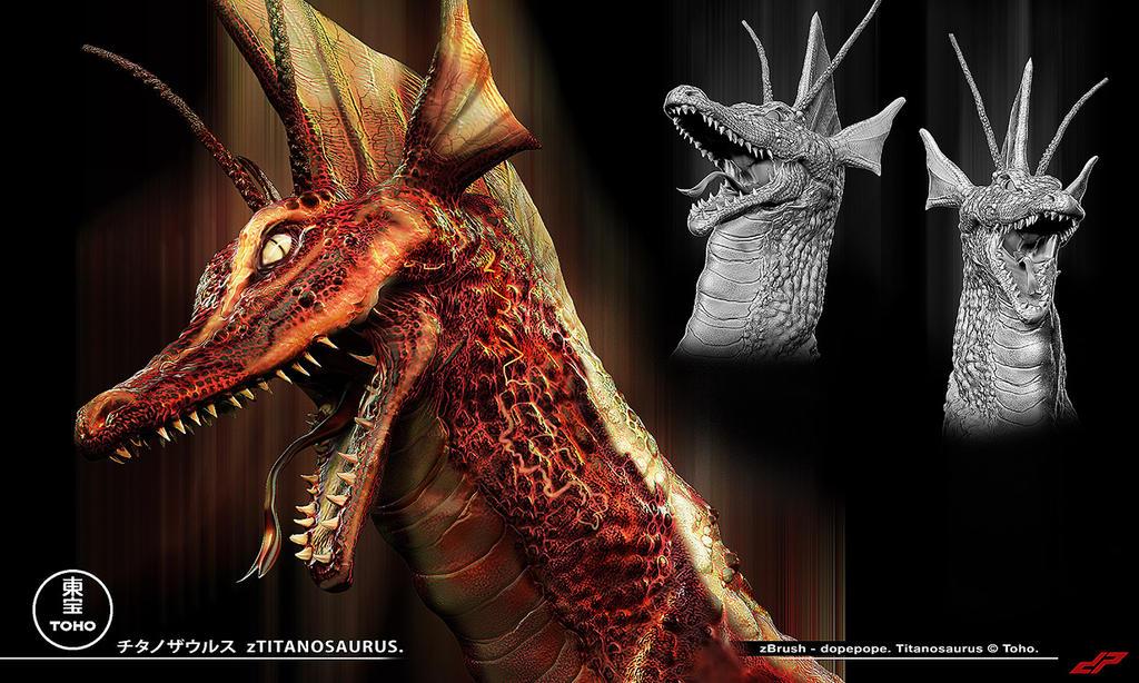 zTitanosaurus head detail by dopepope