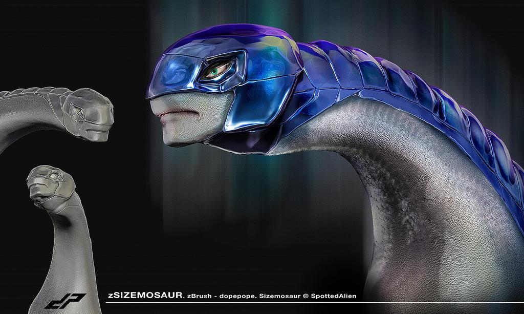 zSizemosaur Head by dopepope
