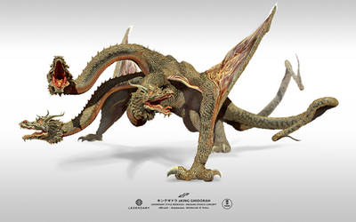 zGHIDORAH dragon stance concept by dopepope
