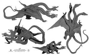 zGHIDORAH dragon alternate views
