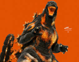 zBurning Godzilla alternate by dopepope