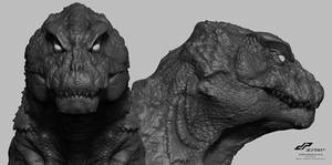 zG16 SHIN GODZILLA head concept alternate views