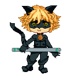 Chat Noir Miraculous Ladybug holding up stick by Conpixel