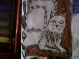 Cat Gargoyle by ScarletShadowScale