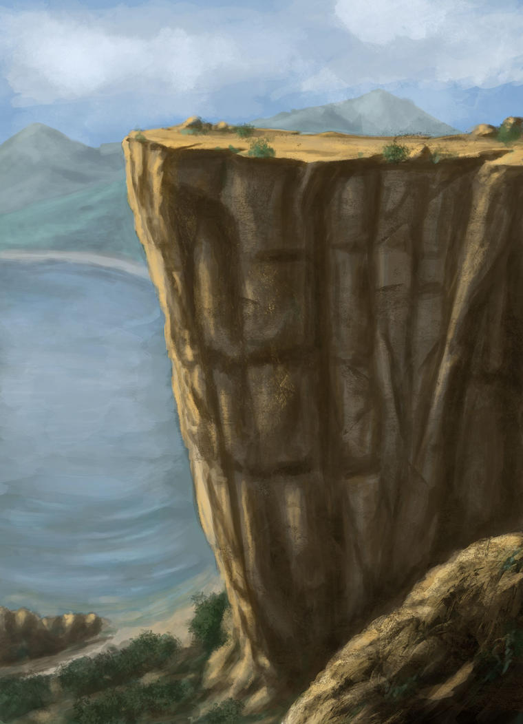 Acrylic Landscape Painting Lesson - Mountains and Cliffs 2 by ...