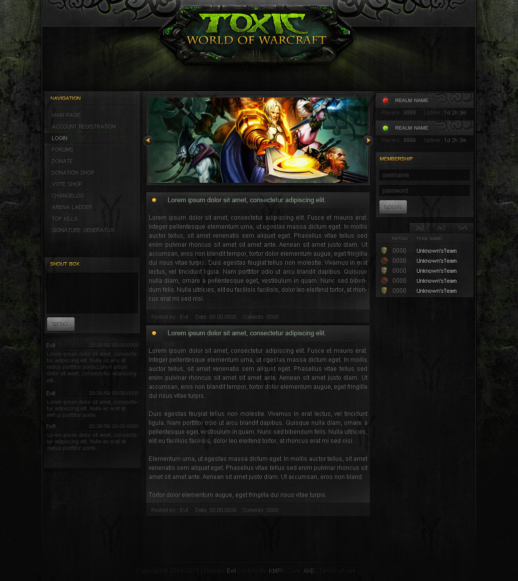 ...ToxicWoW New...Template by Evil-S