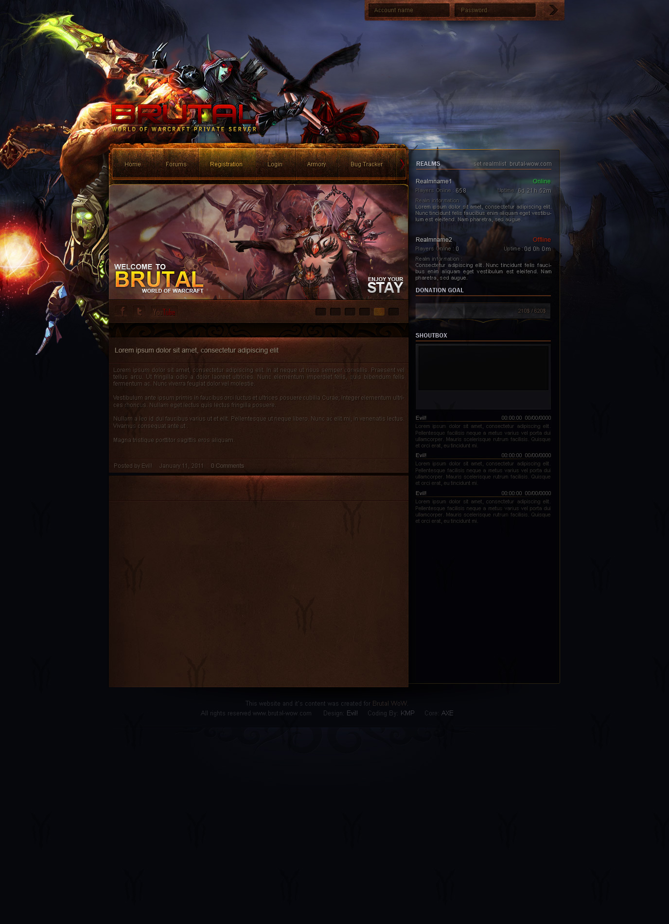 BrutalWoW Template by Evil-S