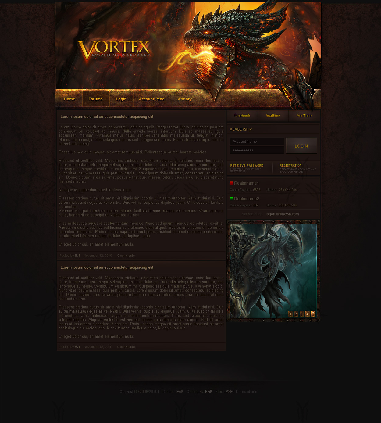 Cataclysm WoW Design by Evil-S
