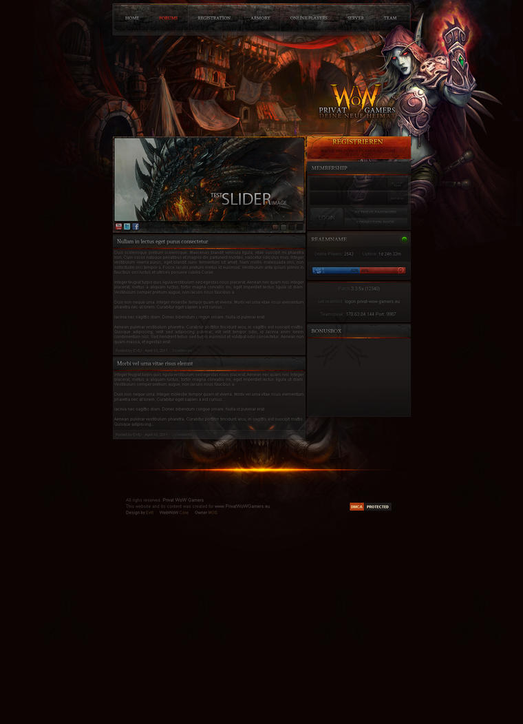 PWG Web Design by Evil-S