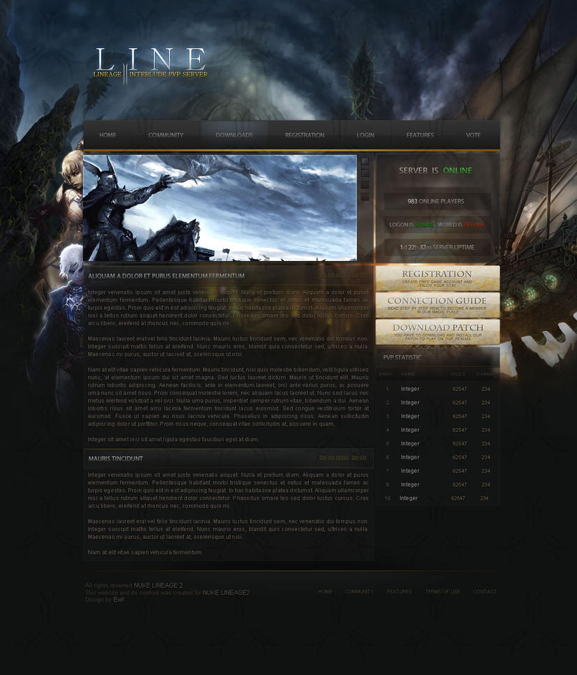 Lineage 2 WebDesign - SOLD by Evil-S