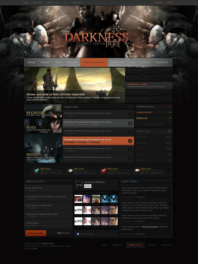 Rappelz Website Deisgn by Evil-S