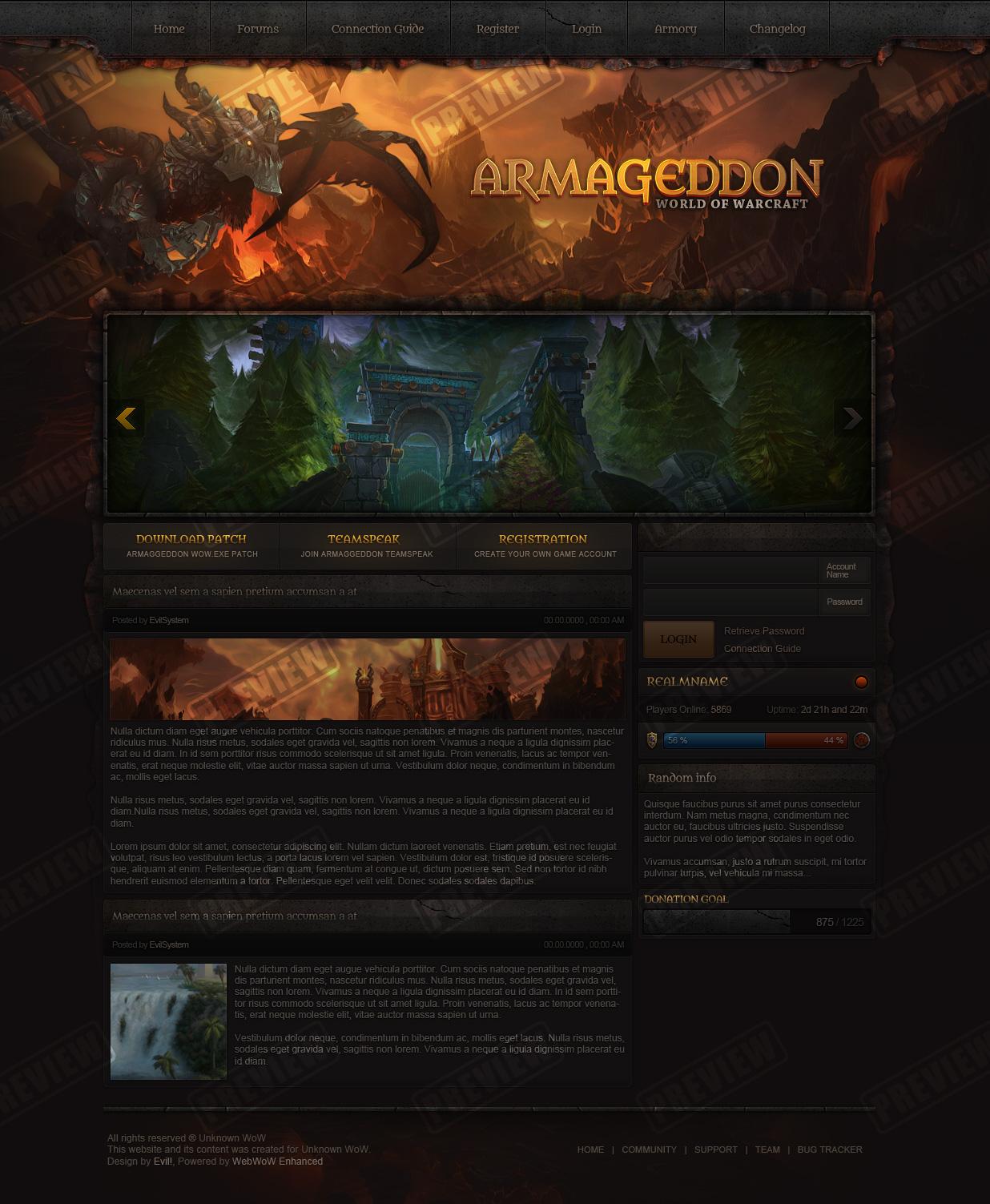 FOR SALE - Armageddon Design