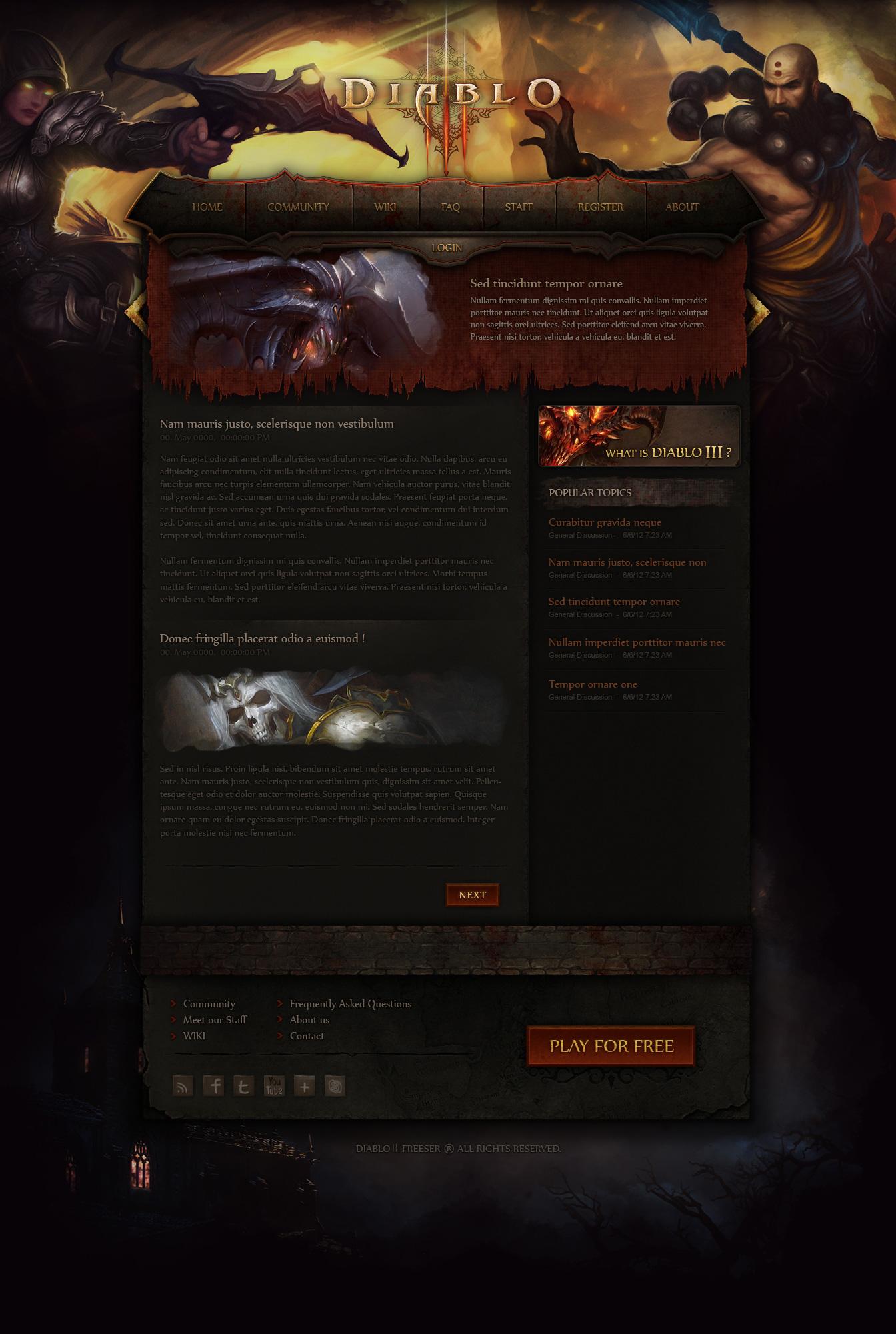 Diablo |||  Web Design by Evil-S