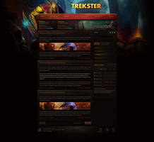 Trekster - World of Warcraft TBC Web Design by Evil-S