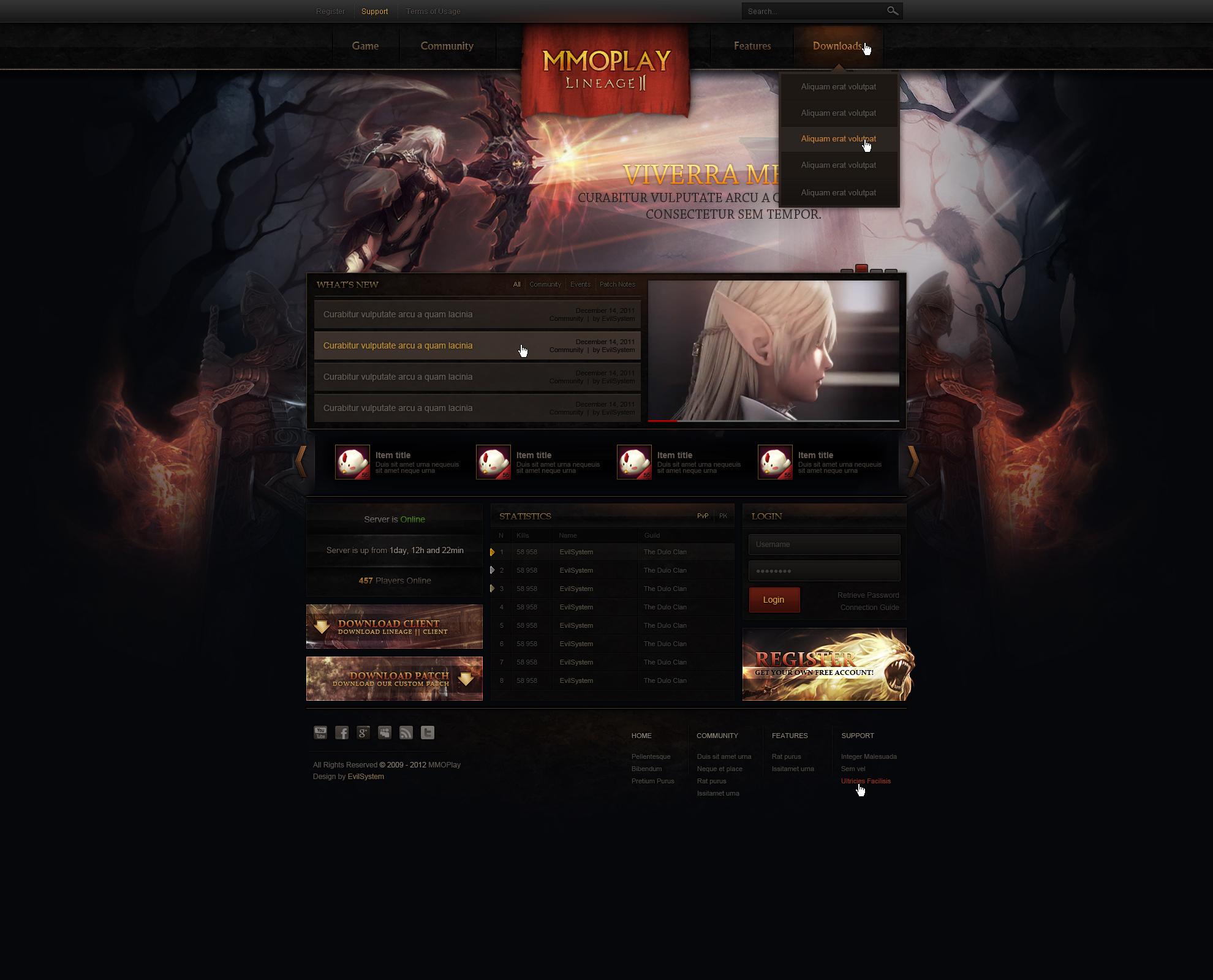 Lineage    Web Design by Evil-S