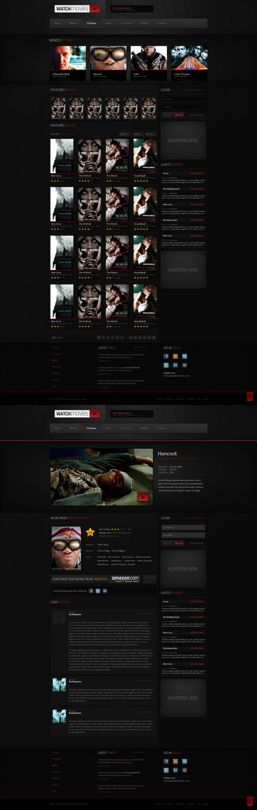 Watch Movies - Web Design by Evil-S