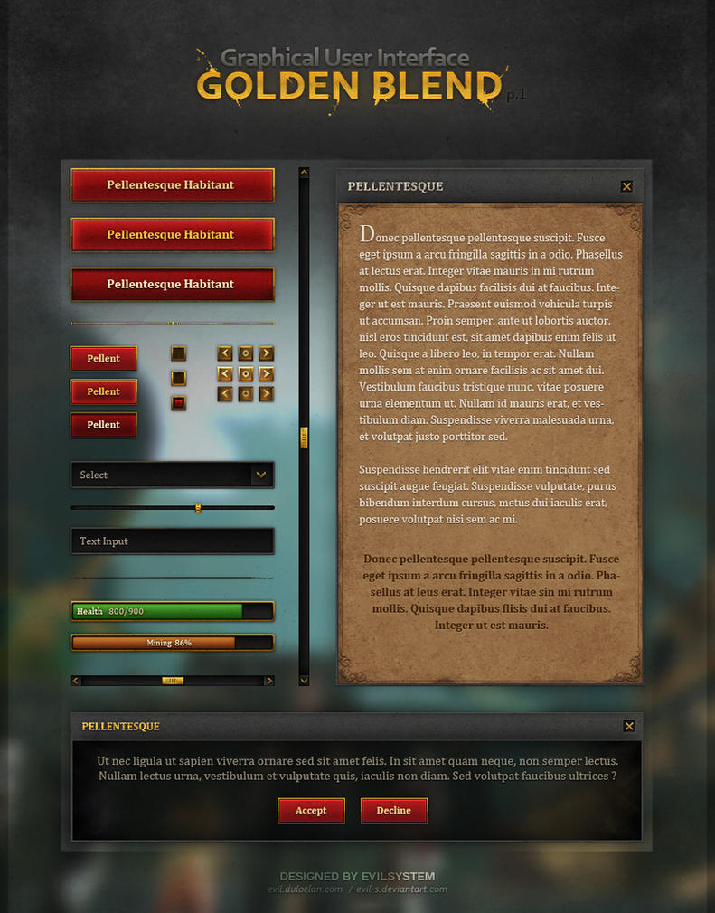 Game Store Interface Design