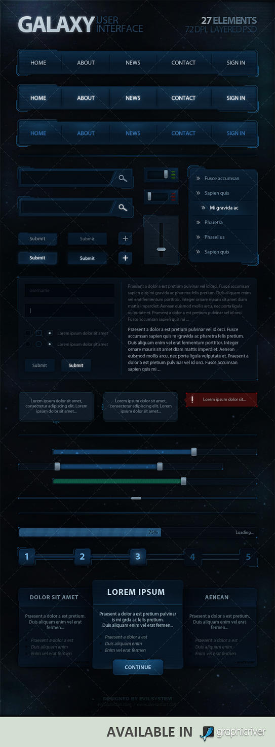 Galaxy User Interface by Evil-S