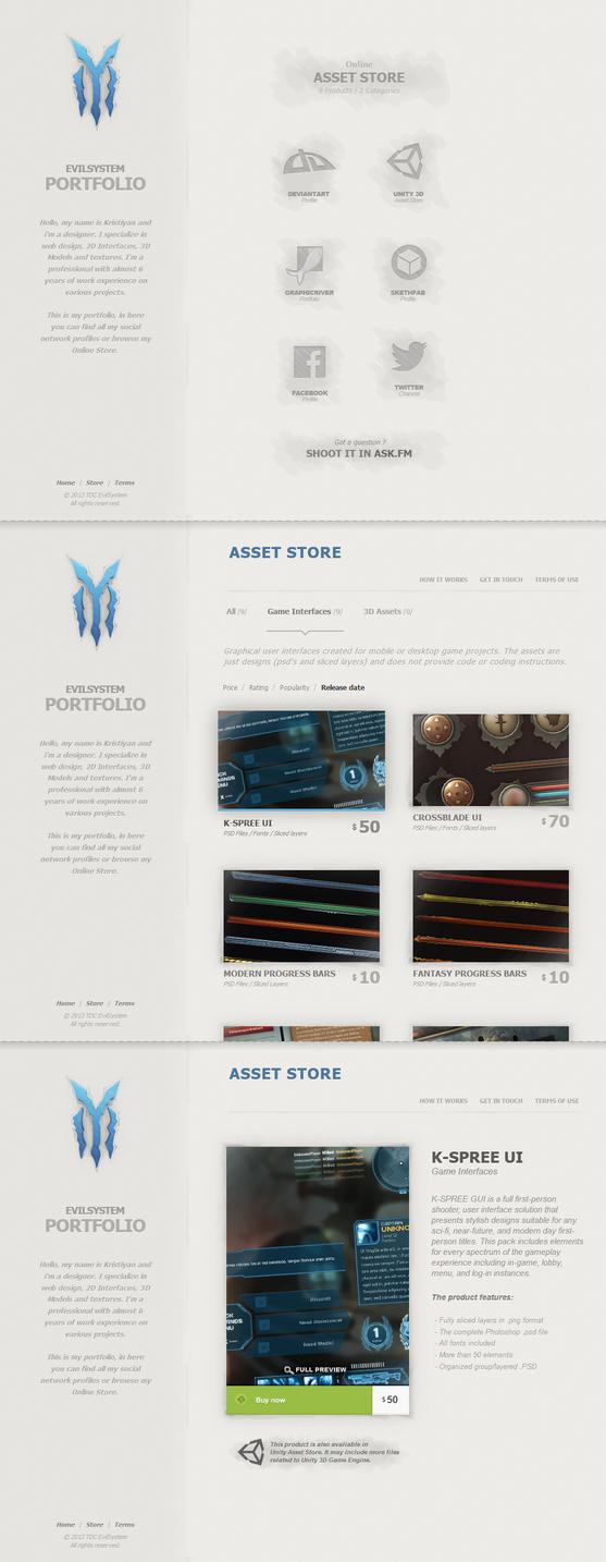 EvilSystem's New portfolio by Evil-S