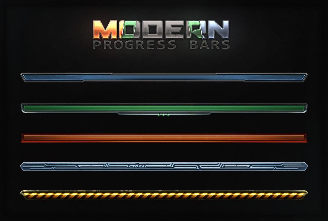 Modern Progress Bars By Evil S On Deviantart
