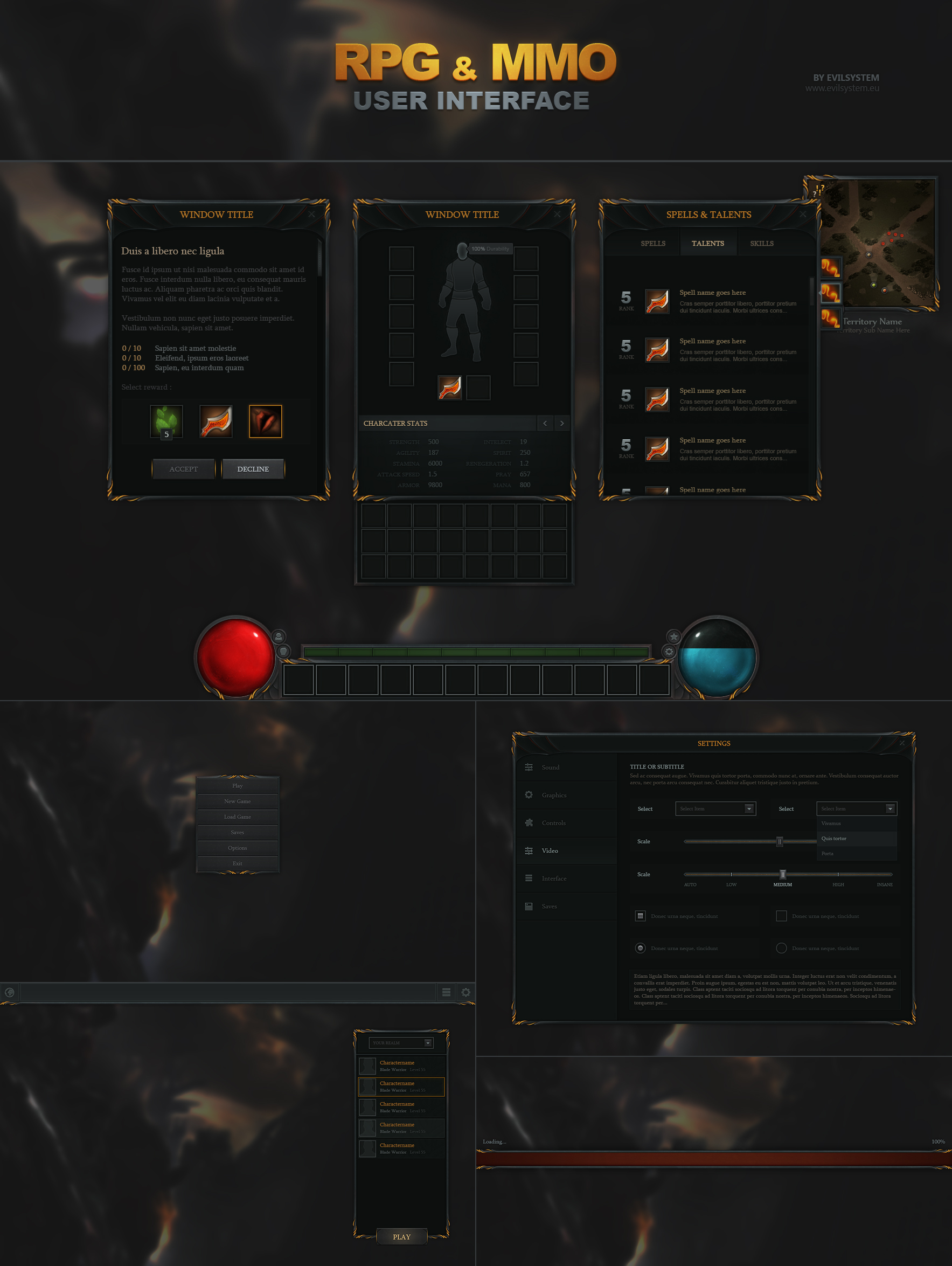 RPG and MMO UI by Evil-S on DeviantArt
