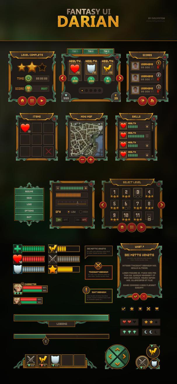 Fantasy UI - Darian by Evil-S