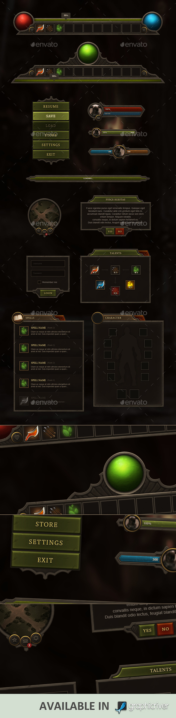 RPG and MMO User Interface by Evil-S