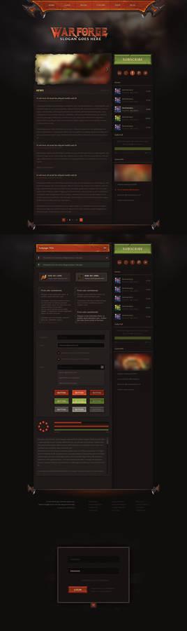 Warforge - Game Website Design