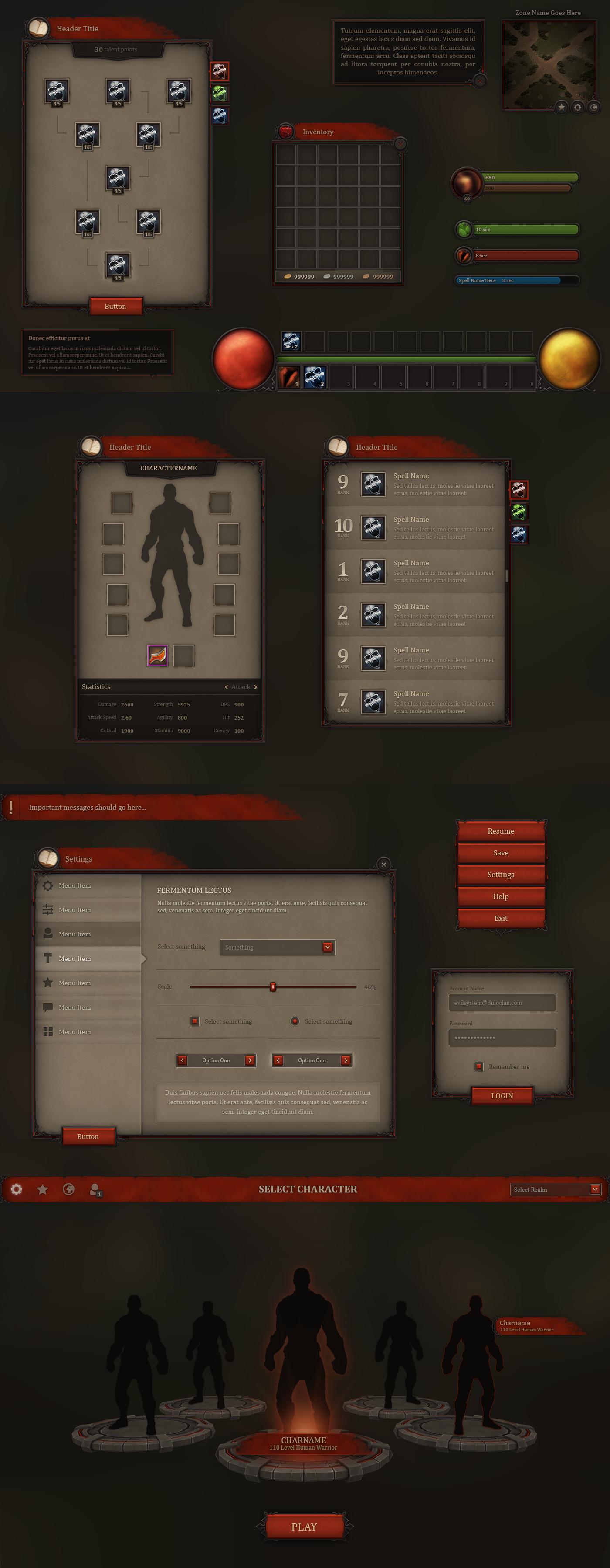 Fantasy UI - Bloodline by Evil-S