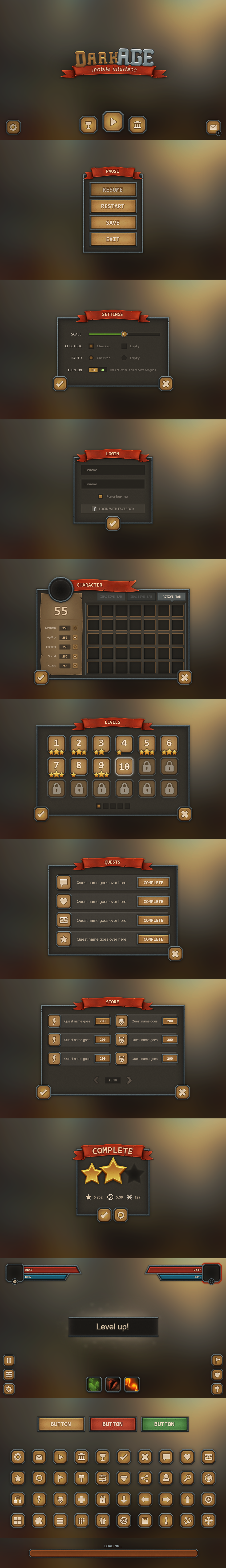 DarkAge Mobile UI by Evil-S