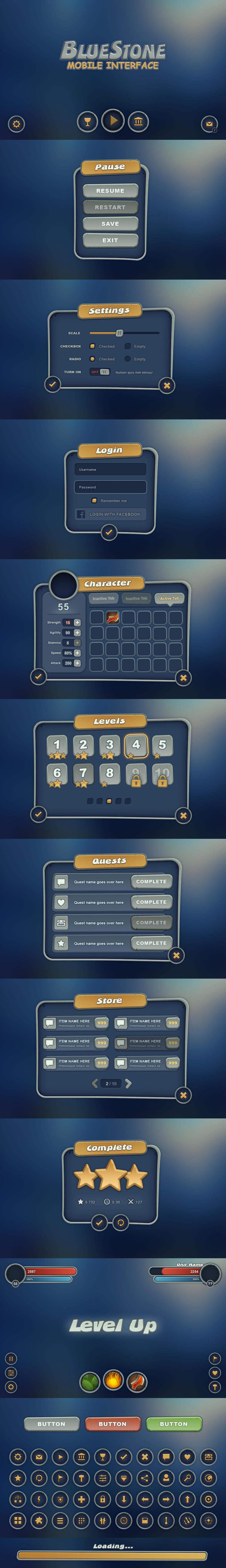 BlueStone Mobile UI by Evil-S