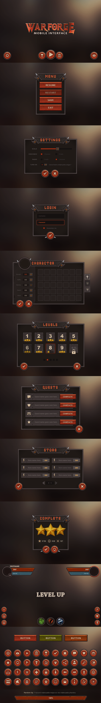 Warforge Mobile UI by Evil-S