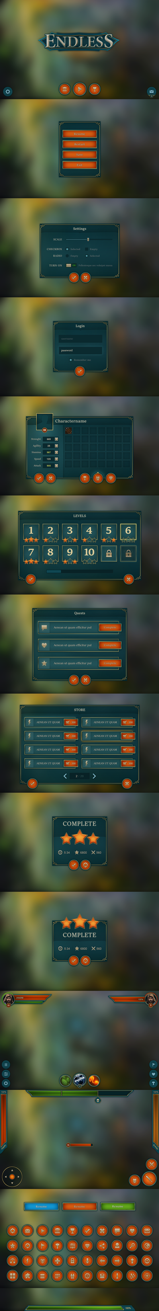 Endless Mobile UI by Evil-S