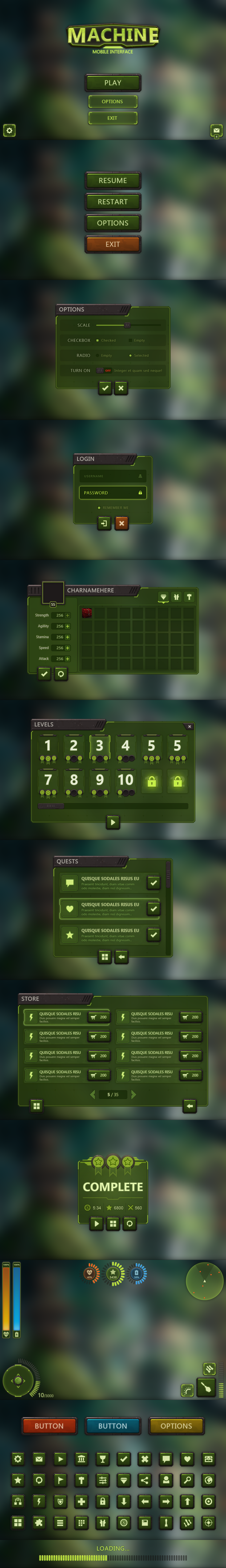 Machine Mobile UI by Evil-S
