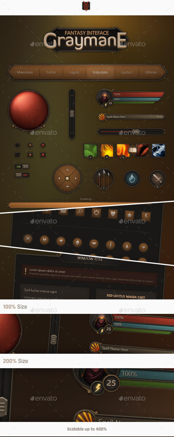 Fantasy Interface - Graymane by Evil-S