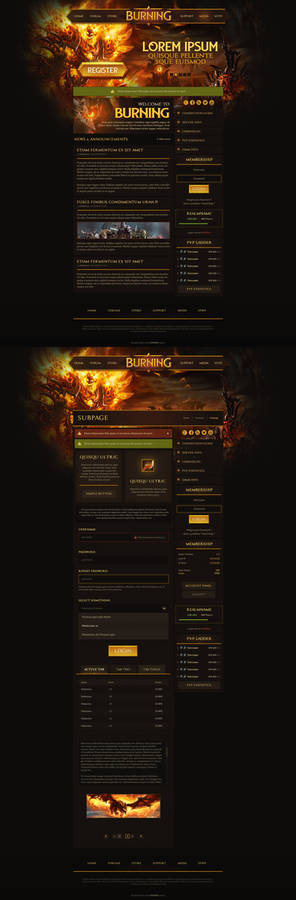 Burning Web Design - WoW