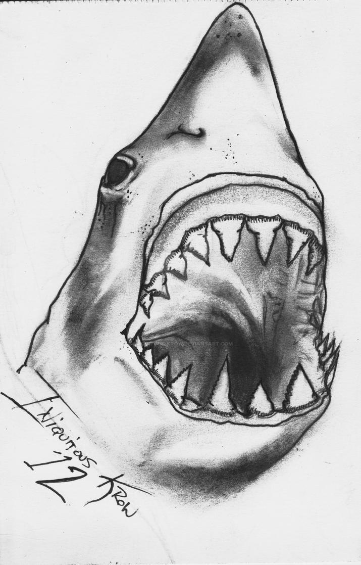 shark tattoo idea by iniquitous krow on deviantart. Black Bedroom Furniture Sets. Home Design Ideas