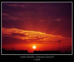 February Sunset II by cmunilla