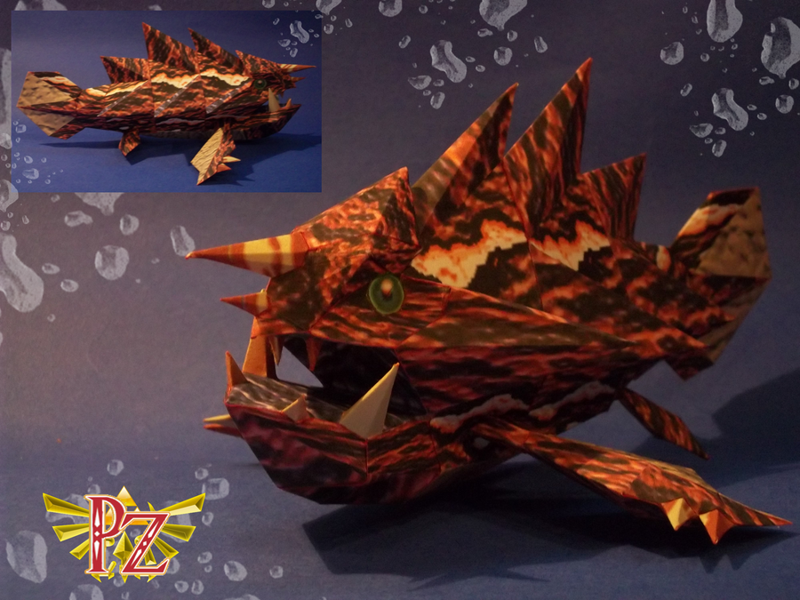 Gargantuan Masked Fish: Gyorg by Paperlegend