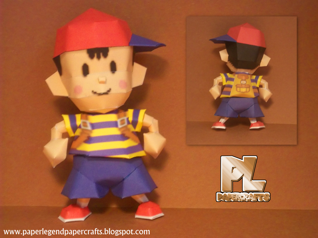 Super Smash Bros Ness by Paperlegend