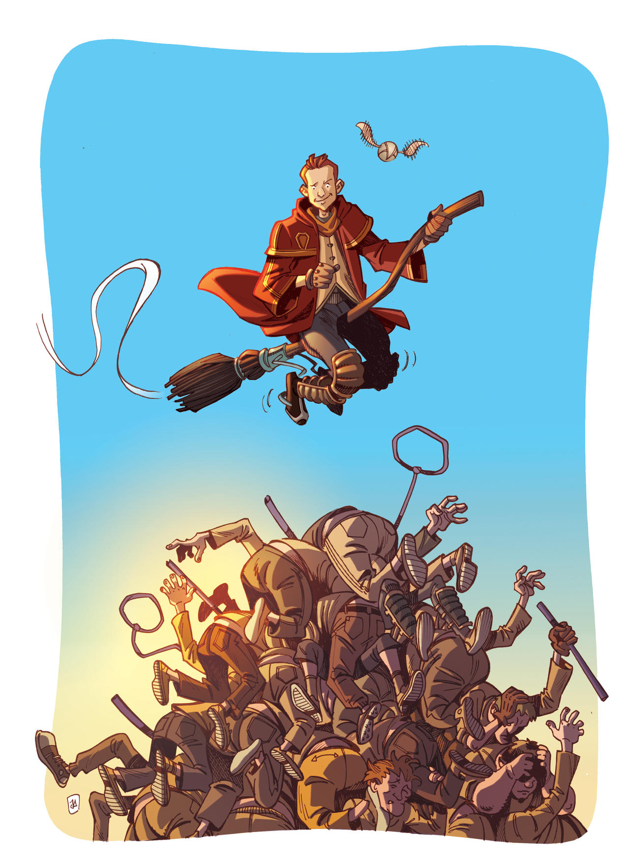 Belgian Muggle Quidditch. by JAH42